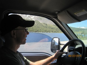 We came from the Tioga Pass and the drive was scenic.