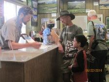 The ranger tells Owen what he needs to do to earn a Jr. Ranger badge.
