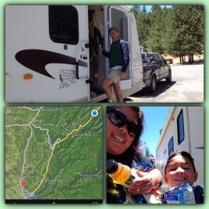 We like rest areas because we 1- get to stretch our legs 2- restroom break 3- raid the trailer for some snacks.