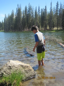 Escape from 107 degrees Day 2: Tuesday  July 1,  2014 North Summit Lake, Lassen NP