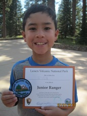 Owen earns a badge.