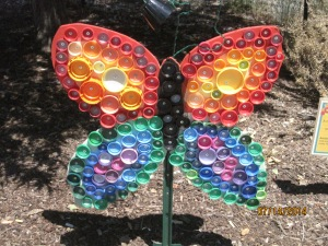 Can you believe that this is made out of bottle caps?