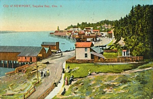 Newport Bay front in the mid 1910.