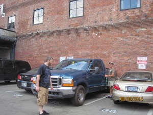 He and Ashley knew where we could park our truck in downtown Seattle.