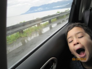 Owen says the rain and the view made him--- you guessed it- sleepy...