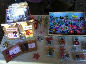 Sep 5, 2014 - I was a vendor at the local craft fair using my paper quilling expertise. This was my display table.