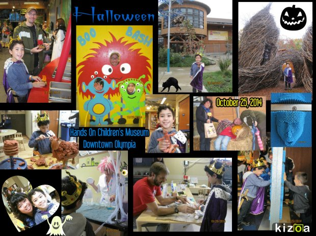 October 25, 2014 Halloween Boo Bash at Hands On Children's Museum, Downtown Olympia.