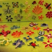 Inspired by youtube videos and websites found on paper quilling flowers.