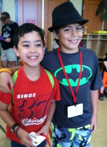 Owen & friend David are attending Summer Camp this week at the Hands on Children's Museum.