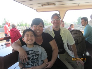 We went on a boat tour from Maastricht Netherlands to Luik Belgium.